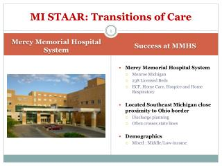 MI STAAR: Transitions of Care