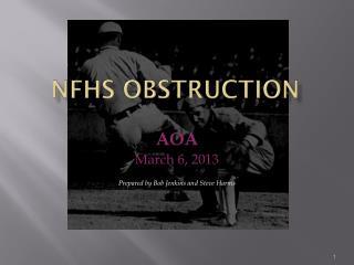 NFHS OBSTRUCTION
