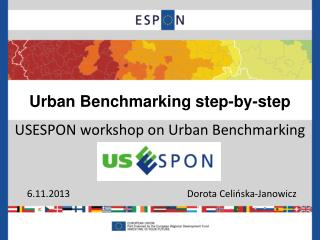 Urban  Benchmarking step-by-step USESPON  workshop  on Urban  Benchmarking