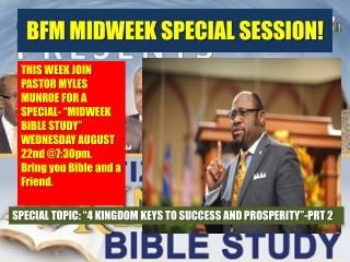 BFM MIDWEEK SPECIAL SESSION!
