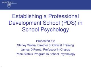Establishing a Professional Development School (PDS) in School Psychology