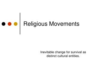 Religious Movements