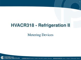 HVACR318 - Refrigeration II