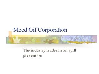 Meed Oil Corporation