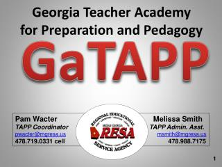 Georgia Teacher Academy for Preparation and Pedagogy