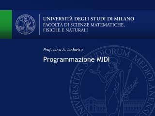 Programmazione MIDI