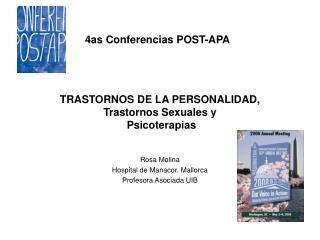TRASTORNOS DE LA PERSONALIDAD,    Trastornos Sexuales y  Psicoterapias