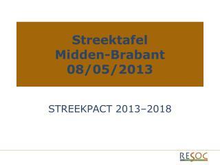 Streektafel Midden-Brabant 08/05/2013