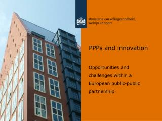 PPPs and innovation