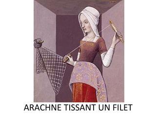 ARACHNE TISSANT UN FILET