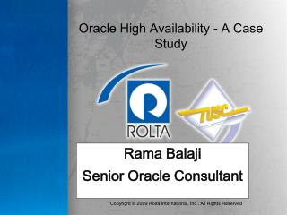 Oracle High Availability - A Case Study