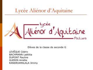 Lycée Aliénor d'Aquitaine