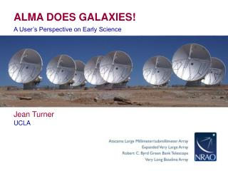 ALMA DOES GALAXIES!
