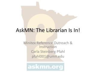 AskMN: The Librarian Is In!