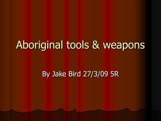 Aboriginal tools & weapons