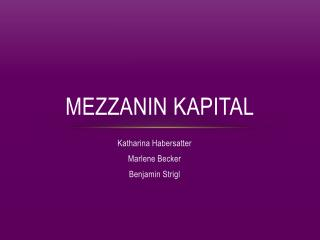 Mezzanin Kapital