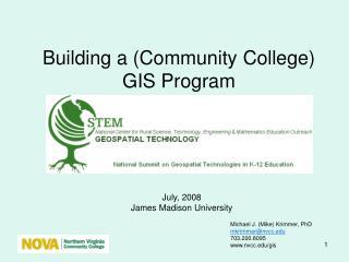Building a (Community College) GIS Program