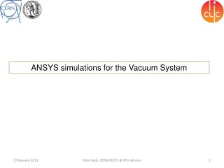 ANSYS  simulations for the Vacuum System