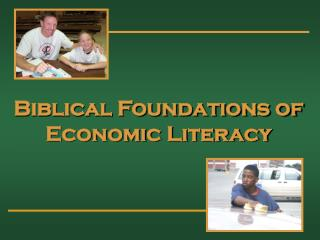 Biblical Foundations of Economic Literacy