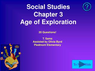 Social Studies Chapter 3 Age of Exploration