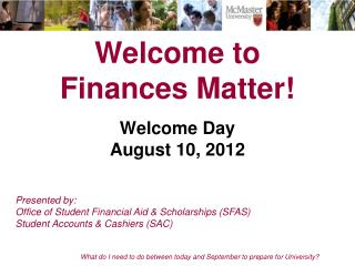 Welcome to  Finances Matter!