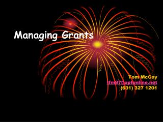 Managing Grants