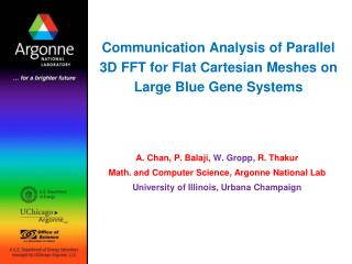 Communication Analysis of Parallel 3D FFT for Flat Cartesian Meshes on Large Blue Gene Systems