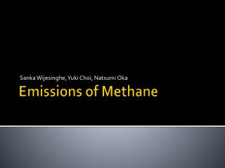 Emissions of Methane