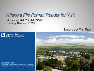 Writing a File Format Reader for  VisIt