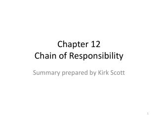 Chapter 12 Chain of Responsibility