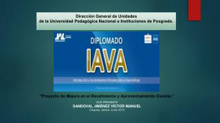 Dirección General de Unidades de la Universidad Pedagógica Nacional e Instituciones de Posgrado.