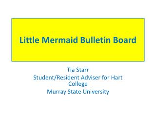 Little Mermaid Bulletin Board