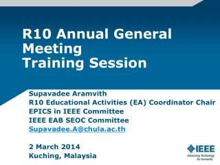 R10 Annual General Meeting Training Session