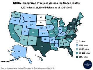 NCQA-Recognized Practices Across the United States