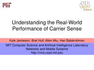 Understanding the Real-World Performance of Carrier Sense