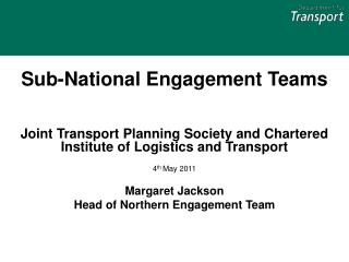 Sub-National Engagement Teams