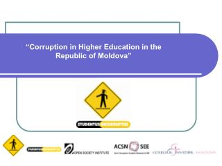 """Corruption in Higher Education in the Republic of Moldova"""