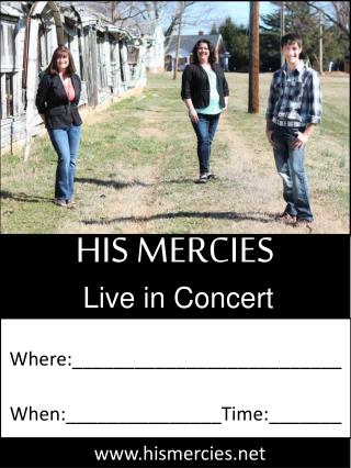 HIS MERCIES Live in Concert