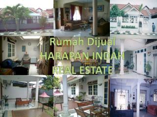 Rumah Dijual HARAPAN INDAH  REAL ESTATE