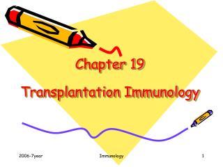 Chapter 19  Transplantation Immunology