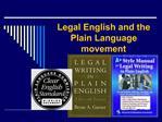 Legal English and the Plain Language movement