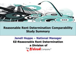 Reasonable Rent Determination Comparability Study Summary