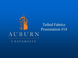 Tufted Fabrics Presentation #14
