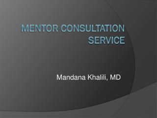 Mentor Consultation Service