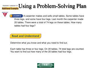 Using a Problem-Solving Plan