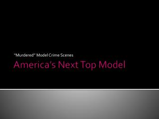 America�s Next Top Model