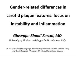 Gender-related differences in carotid plaque features: focus on instability and inflammation