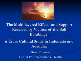 Gwen Brookes  Center For International Health