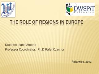 The role of regions in Europe