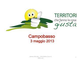 Campobasso  3 maggio 2013